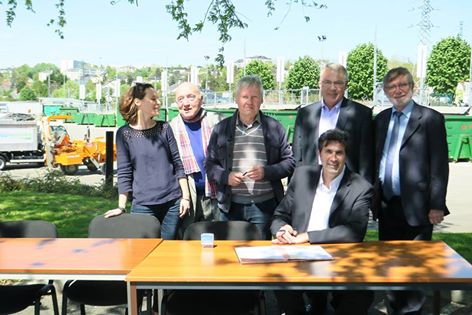 Signature de la convention mercredi 4 mai